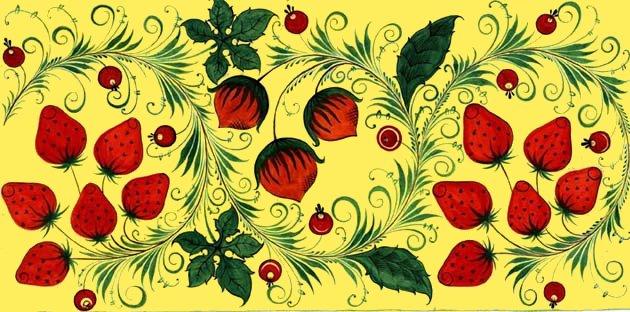 хохлома рисунки: