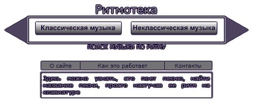 Ритмотека поможет узнать, кто поет песню, найти название песни посредством поиска названия по ее ритму.