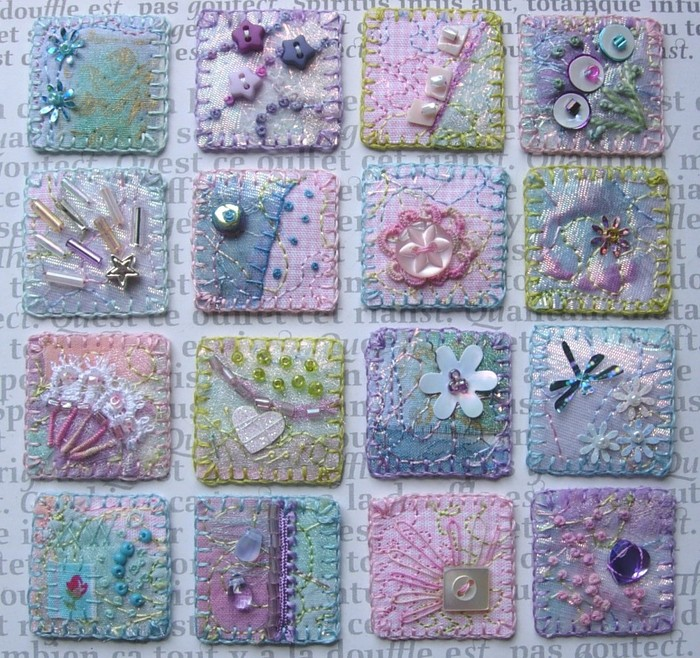 crazy quilt and embroidery: mini patterns