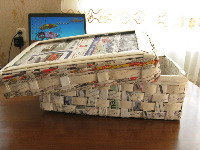 box of newspapers tutorial