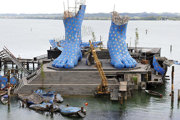 Плавучая сцена на Боденском озере