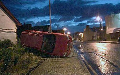 Мини-торнадо причинило вред на £ 1000 в Stornaway, остров Льюиса.