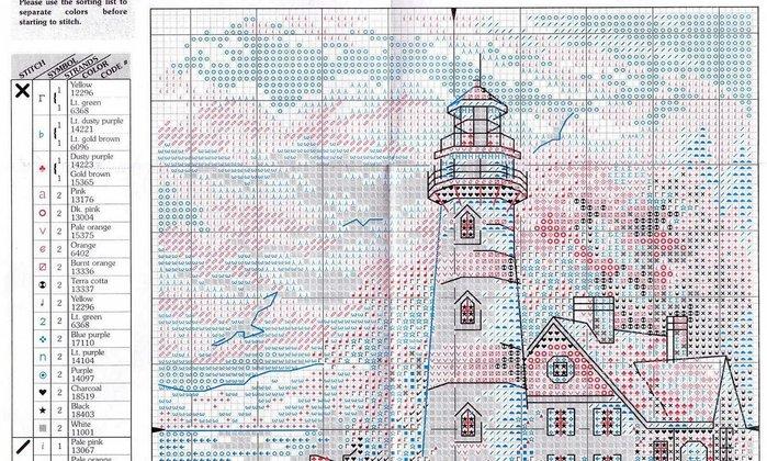 Схема вышивки маяка