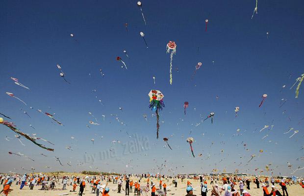 Воздушные змеи в секторе Газа