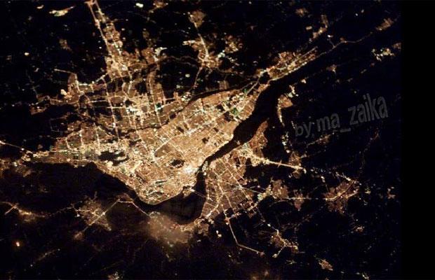 Снимки городов из космоса