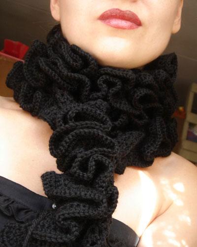 крючком схемы Связать шарф