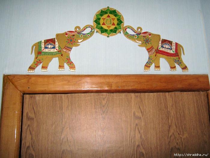 слоны роспись акрилом