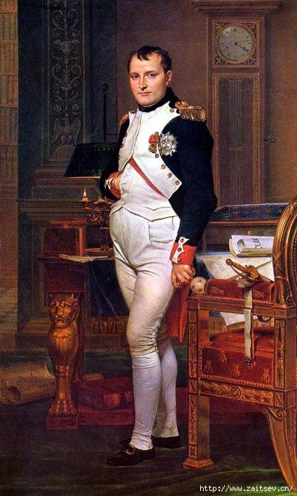 Наполеон в своем кабинете Жак Луи Давид (1812) С сайта zaitsev.cn Дмитрий Зайцев