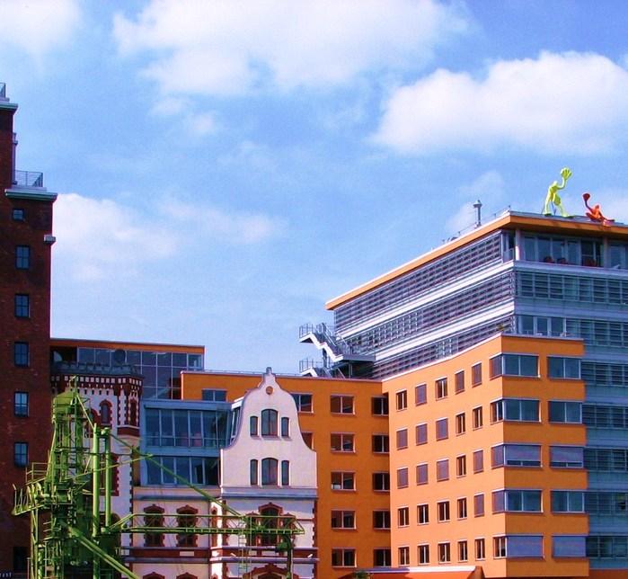 Дюссельдорф, модный деловой район Медиа-Гавань