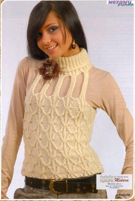 Вязание, жилетка