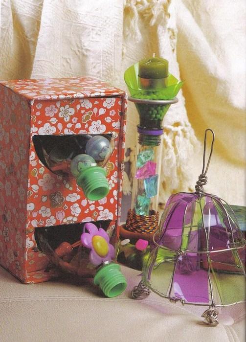 Домашние мелочи из бутылок