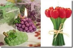 Свечи цветы и фрукты