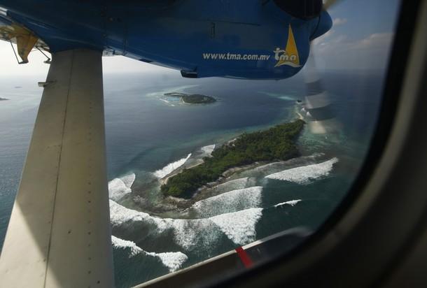 На туристическом острове Male Atoll, 8 декабря 2009.