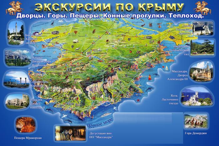 Крым.Экскурсионная схема