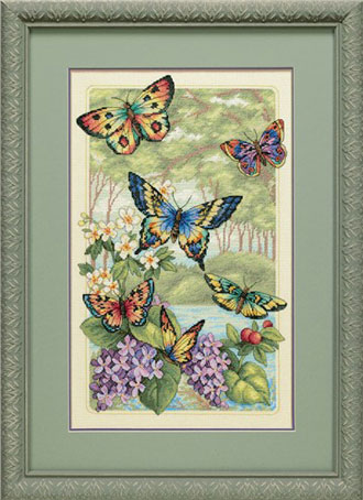 схема вышивки бабочки 2.