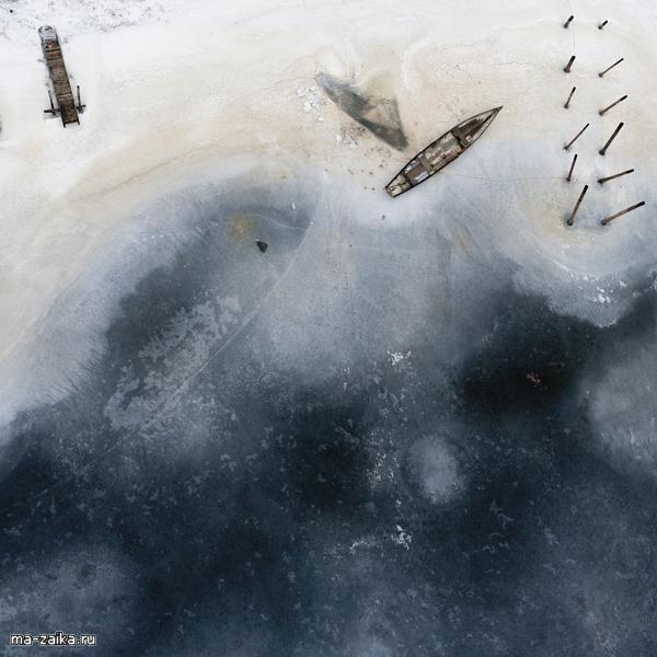 Kacper Kowalksi: редкая зимняя аэрофотосъемка с параплана.