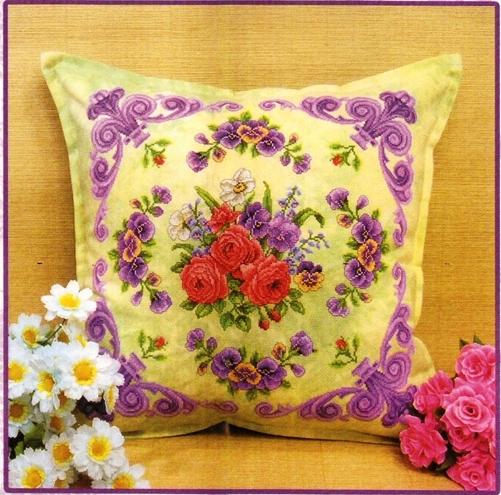 Вышивка декоративной подушки