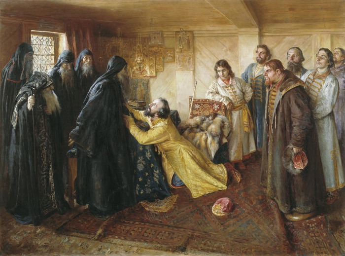 Ivan_the_Terrible_begs_to_become_a_Monk (700x519, 118Kb)