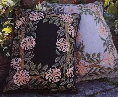Схема вышивки подушки.