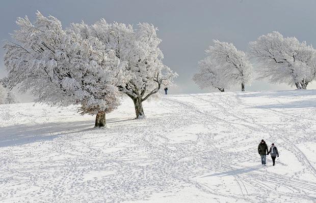 Европа в снегу: погода замораживает.