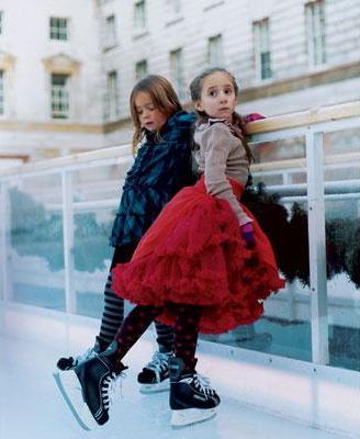 Зимняя мода для маленьких принцесс льда.