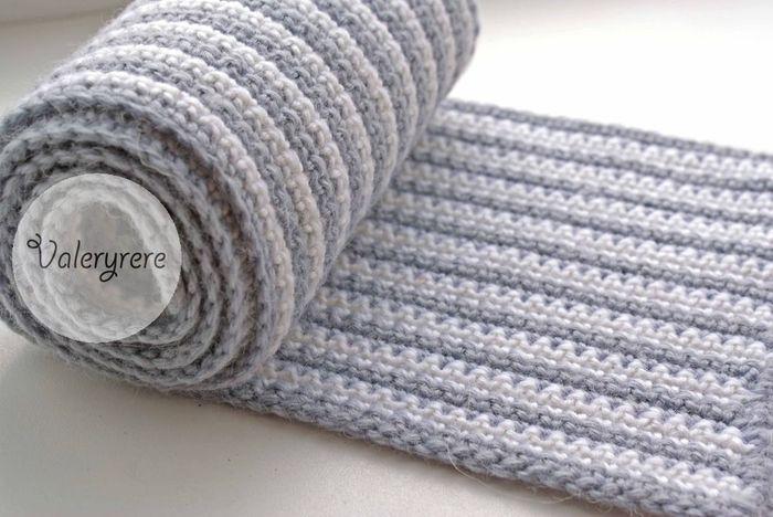 Мужской шарф, связанный