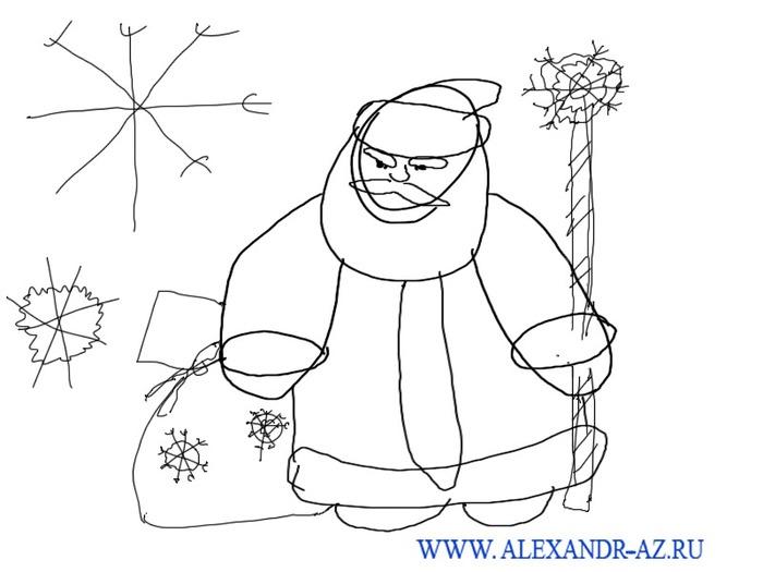 рисовать снежинки.