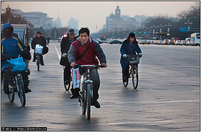 Пекин и велосипедисты