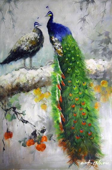 павлины в живописи: