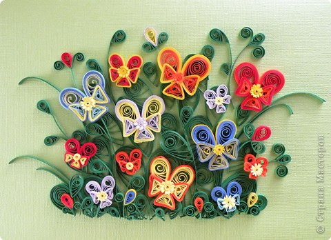 bouquets of flowers: quilling paper: