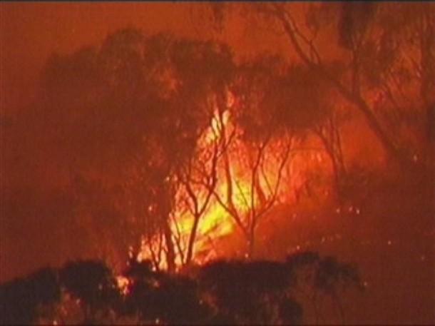 Пожар в Сиднее, Австралия, 30 декабря 2009.