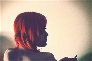 Рыжие девушки с короткими волосами фото сзади на аву
