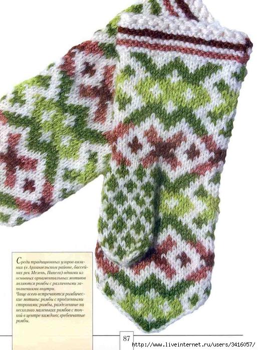 Узорные рукавицы