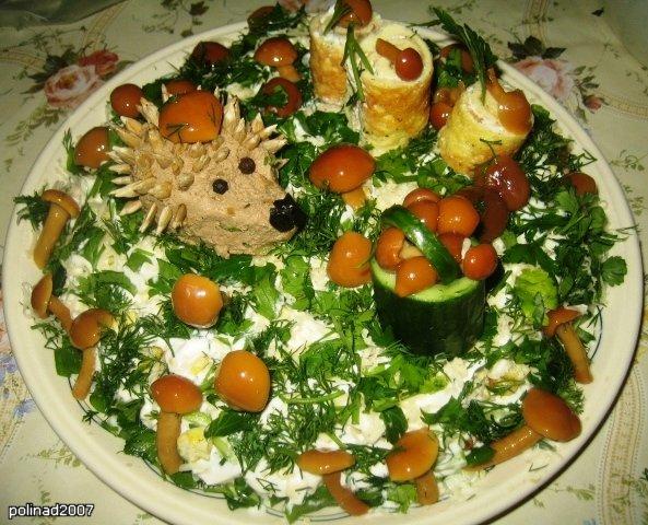 Очень красивые салаты фото
