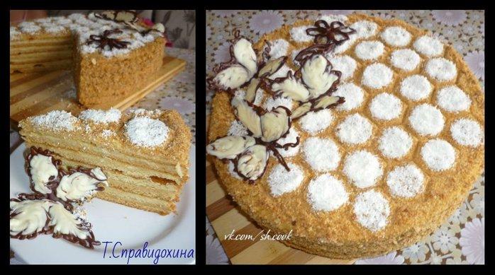 Как украсить медовый торт в домашних условиях фото