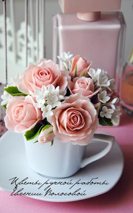 Букет роз из полимерной глины мастер класс с пошаговым фото
