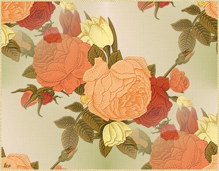 Узор-Кремовые-розы (450x352, 376Kb)