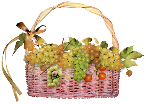 виноград в корз. (500x356, 232Kb)