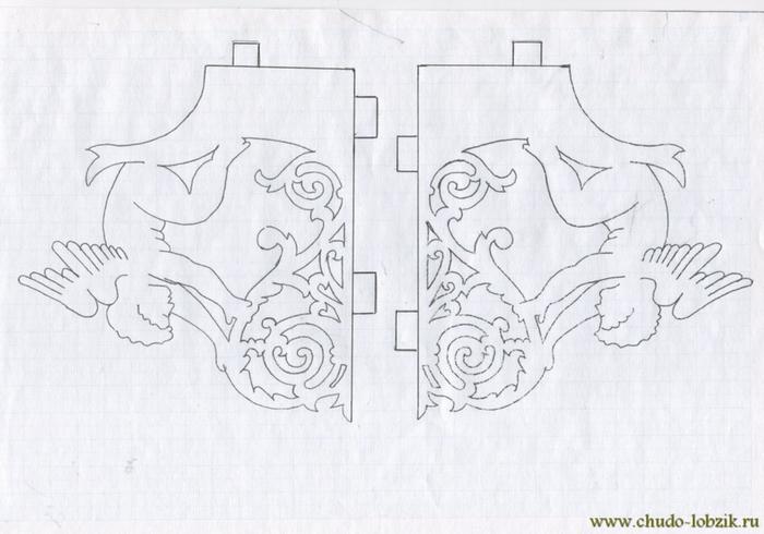 Полка из фанеры лобзиком чертежи