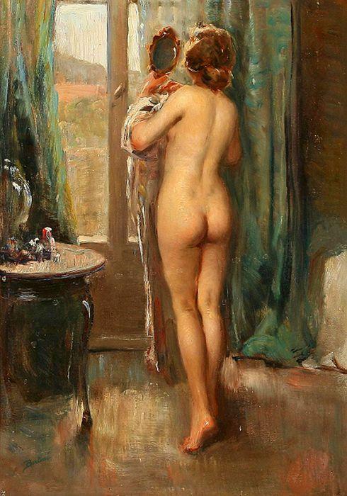 1Dante Bertini (1878 – 1944, Italian)standing-nude (490x700, 73Kb)