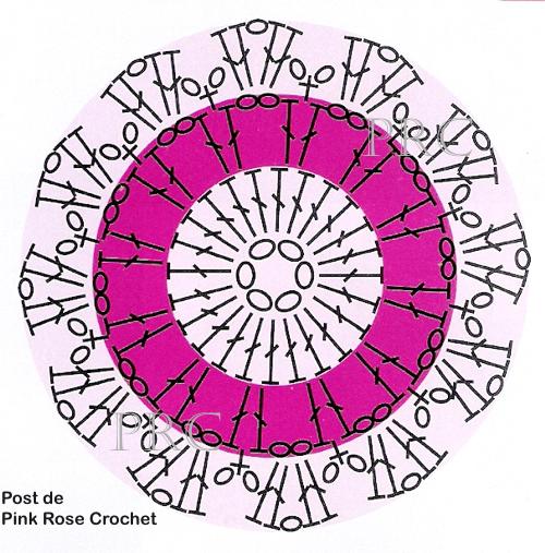 Цветочные подставочки под горячее крючком. Схема (3) (500x507, 488Kb)