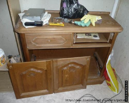 Как перекрасить мебель в белый цвет