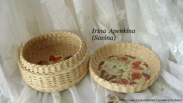 Плетение из газет новые работы ирина апенкина