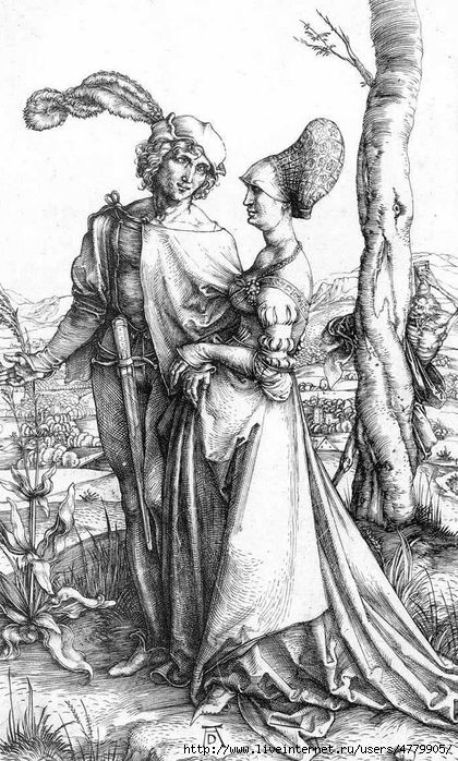 45506637_durer_lovers_and_death (420x698, 260Kb)