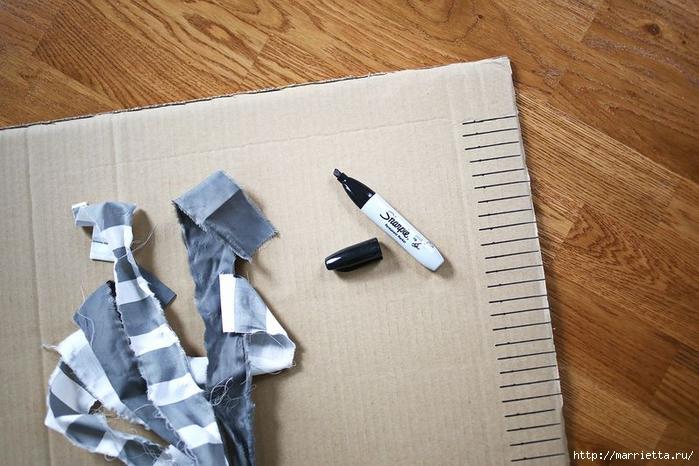 Тканый коврик из лоскутков своими руками (3) (700x466, 260Kb)