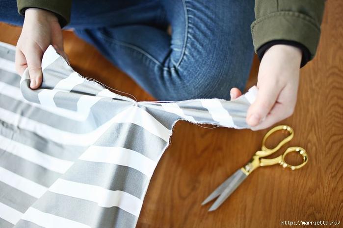 Тканый коврик из лоскутков своими руками (7) (700x466, 198Kb)