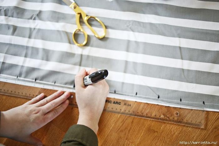 Тканый коврик из лоскутков своими руками (9) (700x466, 201Kb)