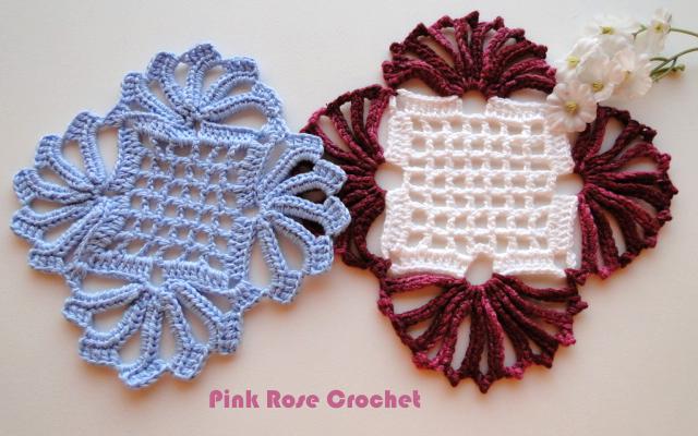Centrinho Croche Square Crochet Coasters (640x400, 560Kb)