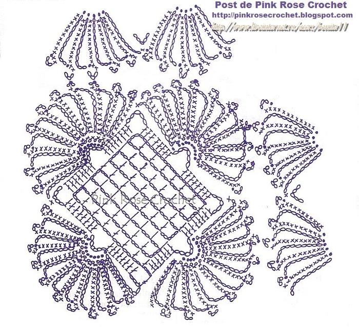 Centrinho Square Croche Gr - PRose Crochet (700x637, 494Kb)