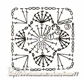 Granny Square Motif Quadradinho Croche gr (273x259, 79Kb)